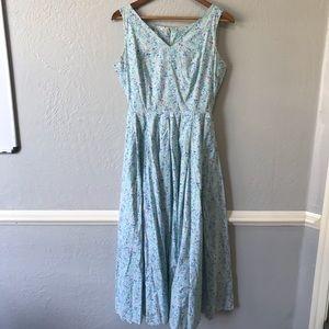 Laura Ashley Vintage Floral Cottagecore Dress